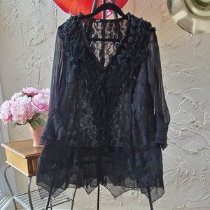Pretty Angel Black Lace, Layered Tunic